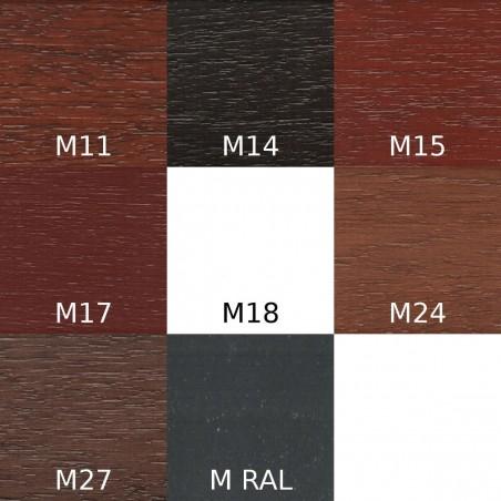 Grunt Urzędowski, kolor Meranti M11, M14, M15, M17, M18, M24, M27, M RAL