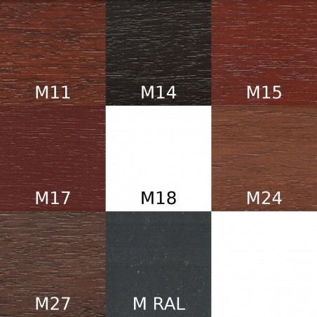 Lakier Urzędowski, kolor Meranti M11, M14, M15, M17, M18, M24, M27, M RAL