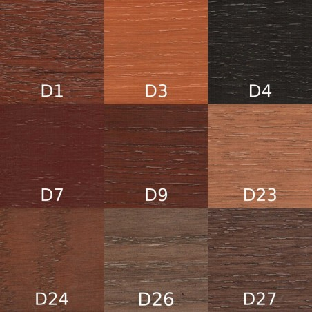 Grunt Urzędowski, kolor Dąb D1, D3, D4, D7, D9, D23, D24, D26, D27