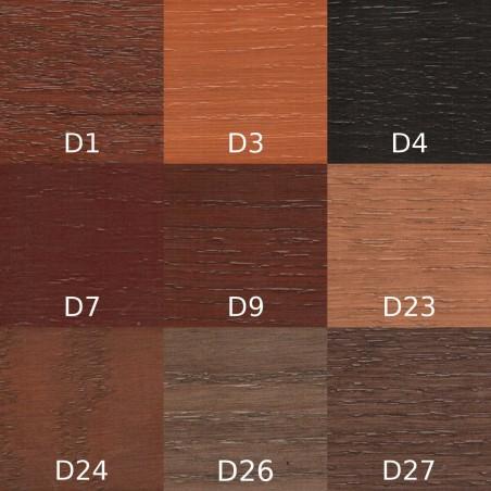 Lakier Urzędowski, kolor Dąb D1, D3, D4, D7, D9, D23, D24, D26, D27