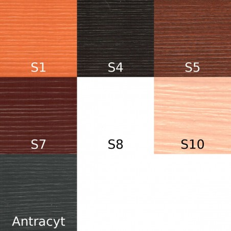 Grunt Urzędowski, kolor Sosna S1, S4, S5, S7, S8, S10, Antracyt